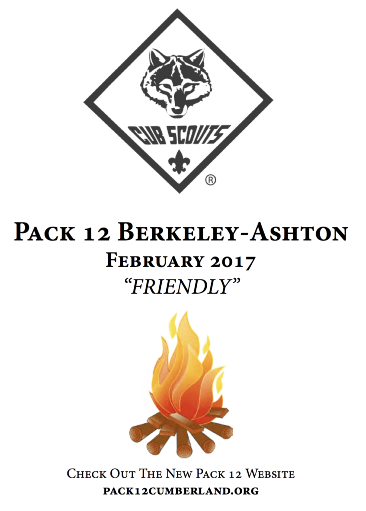 Pack 12 January 2017 Newsletter