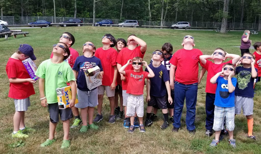 Cub Scout Eclipse Viewing