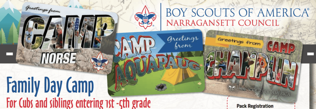 Cub Scout Summer Day Camp Cumberland, RI 2018